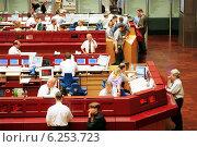Купить «Floor trading on the Frankfurt Stock Exchange», фото № 6253723, снято 17 мая 2000 г. (c) Caro Photoagency / Фотобанк Лори
