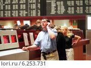 Купить «Floor trading on the Frankfurt Stock Exchange», фото № 6253731, снято 17 мая 2000 г. (c) Caro Photoagency / Фотобанк Лори