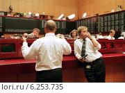 Купить «Floor trading on the Frankfurt Stock Exchange», фото № 6253735, снято 17 мая 2000 г. (c) Caro Photoagency / Фотобанк Лори