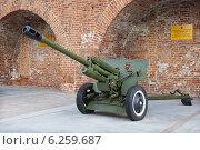 Купить «Противотанковая пушка ЗиС-3 времен Великой Отечественной войны на выставке в Нижнем Новгороде», фото № 6259687, снято 6 августа 2014 г. (c) Александр Романов / Фотобанк Лори