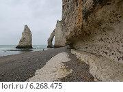 Этрета, скала д'Аваль обратная сторона. Стоковое фото, фотограф Дмитрий Тужилин / Фотобанк Лори