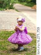 Портрет маленькой девочки в розовом платье. Стоковое фото, фотограф Сергей Гойшик / Фотобанк Лори