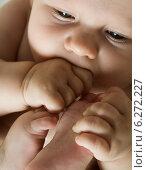 Купить «Baby boy in the cot», фото № 6272227, снято 24 апреля 2019 г. (c) BE&W Photo / Фотобанк Лори