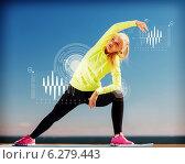 woman doing sports outdoors. Стоковое фото, фотограф Syda Productions / Фотобанк Лори