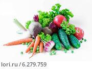 Овощи на белом фоне. Стоковое фото, фотограф Maselko Vitaliy / Фотобанк Лори