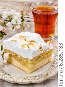 Купить «Apple pie with meringue topping. Festive and party dessert», фото № 6285183, снято 22 января 2019 г. (c) BE&W Photo / Фотобанк Лори