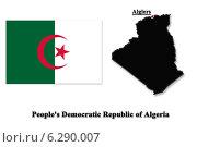 Купить «Карта Алжира на английском языке», иллюстрация № 6290007 (c) Александр Птах / Фотобанк Лори