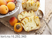 Купить «Apricot cake. Summerr party dessert», фото № 6292343, снято 18 июня 2019 г. (c) BE&W Photo / Фотобанк Лори