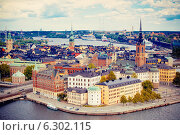 Купить «Панорама Стокгольма», фото № 6302115, снято 8 июня 2014 г. (c) Вероника Галкина / Фотобанк Лори