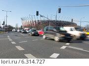 Купить «National Stadium and George Washington Roundabout in Warsaw», фото № 6314727, снято 26 июня 2019 г. (c) BE&W Photo / Фотобанк Лори