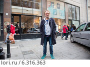"Купить «Przegryџ"" restaurant owned by popular journalist and publicist Piotr Najsztub. Mokotowska street, Warsaw. Pictured:Piotr Najsztub""», фото № 6316363, снято 18 июля 2019 г. (c) BE&W Photo / Фотобанк Лори"