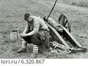Реконструкция сражения 1914 года (2014 год). Редакционное фото, фотограф Михаил Кончин / Фотобанк Лори