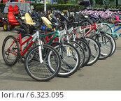 Прокат велосипедов (2014 год). Редакционное фото, фотограф Самойлова Екатерина / Фотобанк Лори