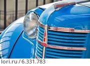 Купить «Москвич-401/422. Фрагмент», эксклюзивное фото № 6331783, снято 12 августа 2014 г. (c) Алёшина Оксана / Фотобанк Лори