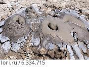 Образование четырех жерл грязевого вулкана на месте одного (2014 год). Стоковое фото, фотограф Лысенко Владимир / Фотобанк Лори