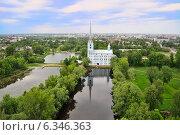 Купить «Петропавловский парк с высоты. Ярославль», фото № 6346363, снято 30 мая 2014 г. (c) Тихомиров Андрей / Фотобанк Лори