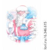 Дед Мороз с подарками. Стоковая иллюстрация, иллюстратор Татьяна Долосова / Фотобанк Лори