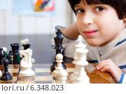 Купить «Мальчик с шахматами», фото № 6348023, снято 29 августа 2014 г. (c) Astroid / Фотобанк Лори