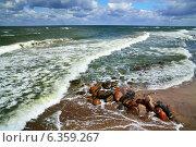 Купить «Камни и морской прибой», фото № 6359267, снято 20 июля 2013 г. (c) Сергей Трофименко / Фотобанк Лори