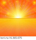 Абстрактный яркий светящийся векторный фон. Стоковая иллюстрация, иллюстратор Darkbird77 / Фотобанк Лори