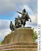 Купить «Памятник Чапаеву в Самаре», фото № 6365131, снято 31 августа 2014 г. (c) Михаил Коханчиков / Фотобанк Лори