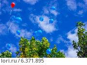 Свободный полет воздушных шаров. Стоковое фото, фотограф Артем Федин / Фотобанк Лори