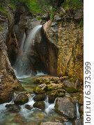 Водопад на горном ручье Zimitz. Стоковое фото, фотограф Сергей Юшинский / Фотобанк Лори