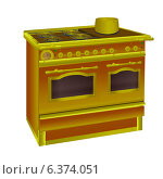 Газовая плита с духовым шкафом. Стоковая иллюстрация, иллюстратор Yevgen Kachurin / Фотобанк Лори