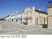 Купить «На пешеходной улице Мира в городе Ельце Липецкой области», эксклюзивное фото № 6375359, снято 27 июля 2014 г. (c) stargal / Фотобанк Лори