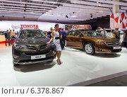 Купить «Стенд Toyota. Московский международный автомобильный салон 2014», эксклюзивное фото № 6378867, снято 29 августа 2014 г. (c) Сергей Лаврентьев / Фотобанк Лори
