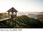 Беседка в горах. Стоковое фото, фотограф Максим Кожушко / Фотобанк Лори