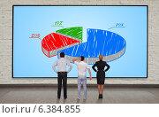 Большая панель с круговой диаграммой. Стоковое фото, фотограф Виталий Китайко / Фотобанк Лори