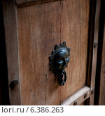 Close-up of a door knocker, Sayulita, Nayarit, Mexico. Стоковое фото, агентство Ingram Publishing / Фотобанк Лори