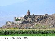 Купить «Армения, монастырь Хор Вирап», фото № 6387595, снято 7 сентября 2014 г. (c) Овчинникова Ирина / Фотобанк Лори
