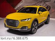 Купить «Audi. Международный автосалон в Москве. 2014 год.», фото № 6388675, снято 3 сентября 2014 г. (c) Павел Лиховицкий / Фотобанк Лори