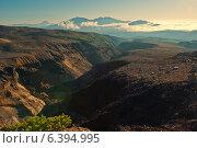 Купить «Каньон Опасный на склоне камчатского вулкана Мутновский», фото № 6394995, снято 30 августа 2014 г. (c) Александр Лицис / Фотобанк Лори