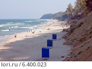 Купить «Пляж. Светлогорск, Калининградская область», эксклюзивное фото № 6400023, снято 14 сентября 2014 г. (c) Svet / Фотобанк Лори