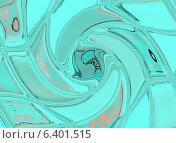 Фрагмент светло-бирюзовой стеклянной плитки. Стоковая иллюстрация, иллюстратор Екатерина Кацэ / Фотобанк Лори