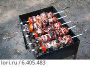 Приготовление шашлыка. Стоковое фото, фотограф Зименков Юрий / Фотобанк Лори
