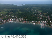 Купить «Aerial view of an island, Bay Islands, Honduras», фото № 6410335, снято 1 января 2013 г. (c) Ingram Publishing / Фотобанк Лори