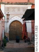 Facade of a traditional building, Marrakesh, Morocco (2012 год). Стоковое фото, агентство Ingram Publishing / Фотобанк Лори