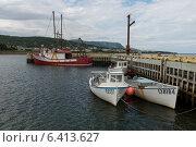 Boats at dock, Rocky Harbor, Gros Morne National Park, Newfoundland And Labrador, Canada (2013 год). Редакционное фото, агентство Ingram Publishing / Фотобанк Лори