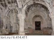 Купить «Церковь св. Богоматери внутри в средневековом монастыре Гошаванк», фото № 6414411, снято 10 сентября 2014 г. (c) Овчинникова Ирина / Фотобанк Лори