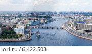 Санкт-Петербург с высоты птичьего полёта. Вид на крейсер Аврору (2014 год). Редакционное фото, фотограф Литвяк Игорь / Фотобанк Лори
