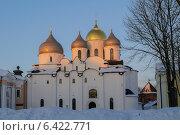 Софийский собор зимой на закате. Стоковое фото, фотограф Зезелина Марина / Фотобанк Лори