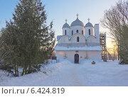 Купить «Собор Иоанна Предтечи (12 век) во Пскове», фото № 6424819, снято 25 февраля 2013 г. (c) Валентина Троль / Фотобанк Лори