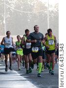 Купить «Московский Марафон 2014», фото № 6431343, снято 21 сентября 2014 г. (c) Бурзина Наталья / Фотобанк Лори