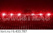 Купить «Red laser show with christmas text and clip», видеоролик № 6433787, снято 23 августа 2019 г. (c) Wavebreak Media / Фотобанк Лори