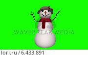 Купить «Seamless christmas snowman waving on green background», видеоролик № 6433891, снято 4 августа 2020 г. (c) Wavebreak Media / Фотобанк Лори