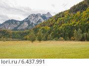 Осень в Альпах. Стоковое фото, фотограф Анна Дорофеенко / Фотобанк Лори
